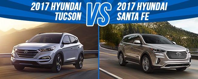 2017 Hyundai Tucson Vs Santa Fe In Madison Wi